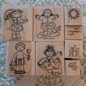 Set of 8 Stamping Up Spring/Summer rubber stamps